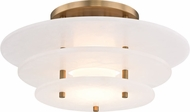 Hudson Valley 9016F-AGB Gatsby Contemporary Aged Brass LED Overhead Light Fixture