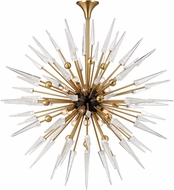 Hudson Valley 9048-AGB Sparta Contemporary Aged Brass Chandelier Lamp