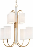 Hudson Valley 9108-AGB Junius Aged Brass Ceiling Chandelier
