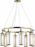 Hudson Valley 9130-AGB Marley Modern Aged Brass 30  Chandelier Light