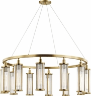 Hudson Valley 9142-AGB Marley Modern Aged Brass 42.5  Hanging Chandelier
