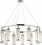Hudson Valley 9142-PN Marley Contemporary Polished Nickel 42.5  Chandelier Light