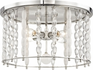 Hudson Valley 9304-PN Whitestone Contemporary Polished Nickel Ceiling Light