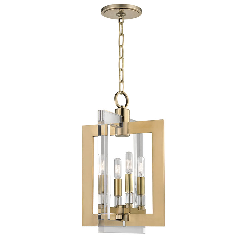 Foyer Lighting Fixtures : Hudson valley agb wellington modern aged brass