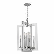 Hudson Valley 9317-PN Wellington Contemporary Polished Nickel 17.5  Wide Foyer Lighting Fixture