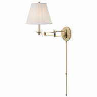 Hudson Valley 9321-AGB Ravena Aged Brass Finish 16.25  Tall Wall Arm Lamp