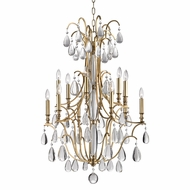 Hudson Valley 9329-AGB Crawford Aged Brass Chandelier Light