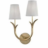Hudson Valley 9402L-AGB Deering Aged Brass Wall Light Sconce