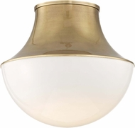 Hudson Valley 9415-AGB Lettie Contemporary Aged Brass LED 14.75  Flush Lighting