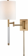 Hudson Valley 9421-AGB Englewood Modern Aged Brass Wall Swing Arm Lamp