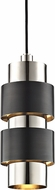 Hudson Valley 9422-PNOB Cyrus Contemporary Polished Nickel / Old Bronze Combo Mini Hanging Lamp