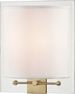 Hudson Valley 9510-AGB Peoria Contemporary Aged Brass Wall Sconce Lighting