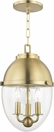 Hudson Valley 9511-AGB Kennedy Modern Aged Brass Mini Hanging Light