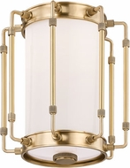 Hudson Valley 9709-AGB Hyde Park Modern Aged Brass LED Flush Mount Lighting