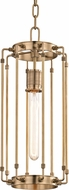 Hudson Valley 9710-AGB Hyde Park Contemporary Aged Brass 8.5 Foyer Lighting Fixture