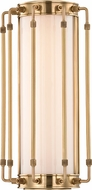 Hudson Valley 9712-AGB Hyde Park Modern Aged Brass LED Wall Light Sconce