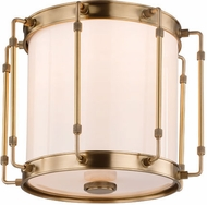 Hudson Valley 9713-AGB Hyde Park Contemporary Aged Brass LED Flush Mount Lighting Fixture