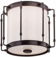 Hudson Valley 9713-OB Hyde Park Modern Old Bronze LED Flush Ceiling Light Fixture