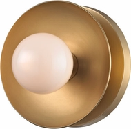Hudson Valley 9801-AGB Julien Contemporary Aged Brass LED Light Sconce