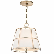 Hudson Valley 9816-AGB Savona Aged Brass Finish 15.25  Tall Pendant Light Fixture