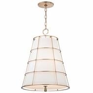 Hudson Valley 9820-AGB Savona Aged Brass Finish 27  Tall Drop Lighting