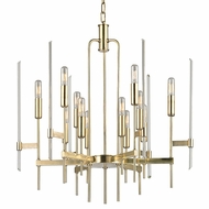 Hudson Valley 9912-AGB Bari Contemporary Aged Brass Finish 24 Wide Hanging Chandelier