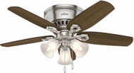 Hunter 51092 Builder Low Profile Brazilian Cherry / Harvest Mahogany 42  Indoor Ceiling Fan