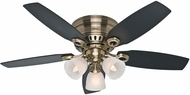 Hunter 52085 Hatherton Black Oak / Dark Walnut 46  Indoor Ceiling Fan