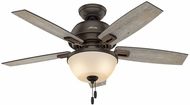 Hunter 52225 Donegan Bowl Light Barnwood / Dark Walnut LED 44  Indoor Ceiling Fan