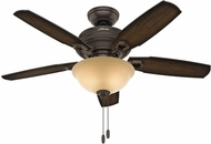 Hunter 52232 Ambrose Bowl Light Burnished Aged Maple / Aged Maple LED 44  Indoor Ceiling Fan
