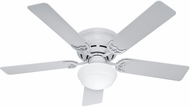 Hunter 53075 Low Profile III Plus White Fluorescent 52  Indoor Ceiling Fan