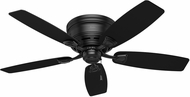 Hunter 53118 Sea Wind Matte Black Interior / Exterior 48  Ceiling Fan