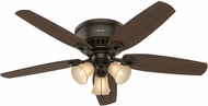 Hunter 53327 Builder Low Profile Harvest Mahogany / Brazilian Cherry 52  Ceiling Fan