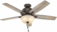 Hunter 53333 Donegan Bowl Light Barnwood / Dark Walnut LED 52  Indoor Ceiling Fan