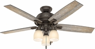 Hunter 53336 Donegan Three Light Barnwood / Dark Walnut LED 52  Indoor Ceiling Fan