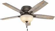 Hunter 53342 Donegan Low Profile Barnwood / Dark Walnut LED 52  Indoor Ceiling Fan