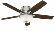 Hunter 53344 Donegan Low Profile Dark Walnut / Distressed Oak LED 52  Home Ceiling Fan