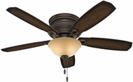 Hunter 53355 Ambrose Low Profile Bowl Light Burnished Aged Maple / Aged Maple LED 52  Home Ceiling Fan