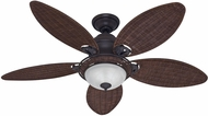 Hunter 54095 Caribbean Breeze Antique Dark Wicker 54  Home Ceiling Fan
