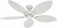 Hunter 54097 Bayview White Wicker / White Palm Leaf Interior / Exterior 54  Home Ceiling Fan