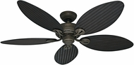 Hunter 54098 Bayview Antique Dark Wicker / Antique Dark Palm Leaf Indoor / Outdoor 54  Ceiling Fan