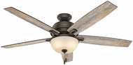 Hunter 54170 Donegan Bowl Light Barnwood / Dark Walnut LED 60  Indoor Ceiling Fan