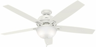 Hunter 54171 Donegan Bowl Light Fresh White / Light Grey Oak LED 60  Ceiling Fan