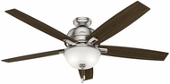 Hunter 54172 Donegan Bowl Light Distressed Oak / Dark Walnut LED 60  Home Ceiling Fan