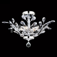 James Moder 40104S22 Regalia Crystal Silver Ceiling Light