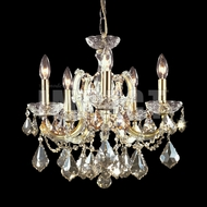 James Moder 40255GL2GTMaria Theresa Crystal Gold Lustre Mini Ceiling Chandelier