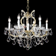 James Moder 40256GL22 Maria Theresa Crystal Gold Lustre Mini Hanging Chandelier