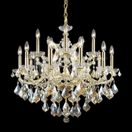 James Moder 40257GL2GT Maria Theresa Crystal Gold Lustre Lighting Chandelier