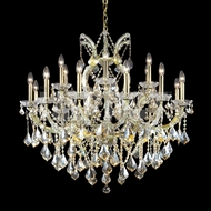 James Moder 40258GL2GT Maria Theresa Crystal Gold Lustre Chandelier Light