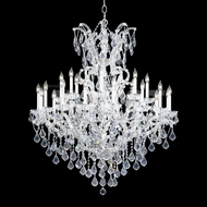 James Moder 40259S22 Maria Theresa Crystal Silver Ceiling Chandelier